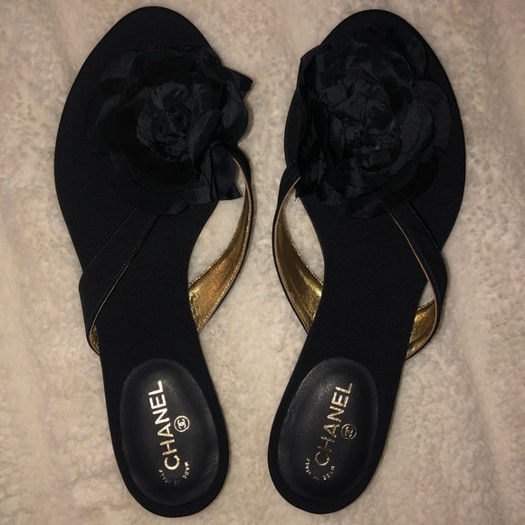 d4d33f26f CHANEL Shoes - CHANEL CAMELLIA FLIP FLOPS